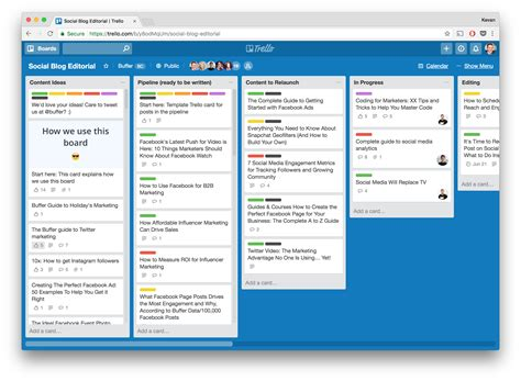Trello Inspiration For Remote Teams How We Organize Ourselves At Buffer Trello Board Templates