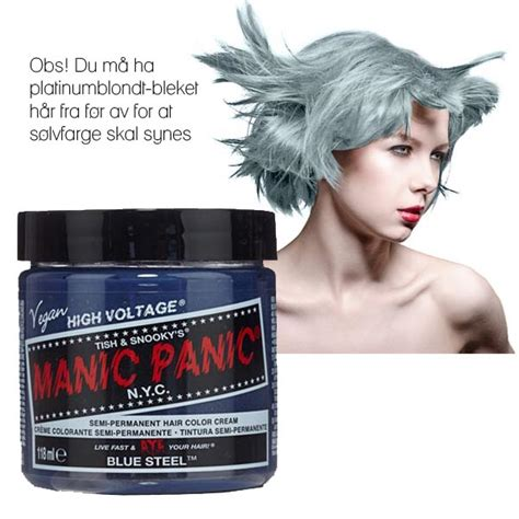 Manic Panic Blue Steel Classic utradisjonelle h 229 rfarger fra dragens hule dragens hule