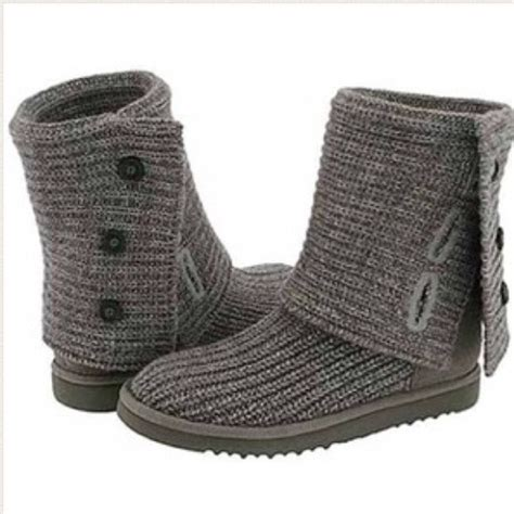 uggs gray knit 25 ugg boots grey knit uggs from s closet