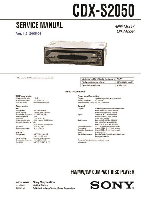 sony cdx ra700 wiring diagram efcaviation