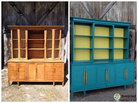 teal mid century modern buffet funcycled