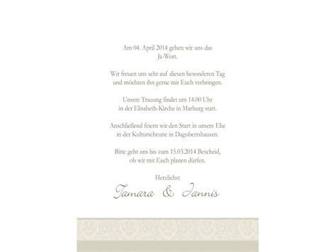 Einladungskarten Hochzeit Creme by Einladungen Hochzeit Einladungskarten