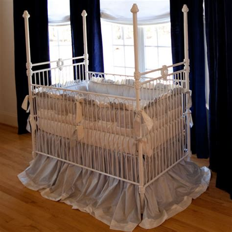 White Iron Cribs by Four Poster Wreath Iron Crib In White And Nursery