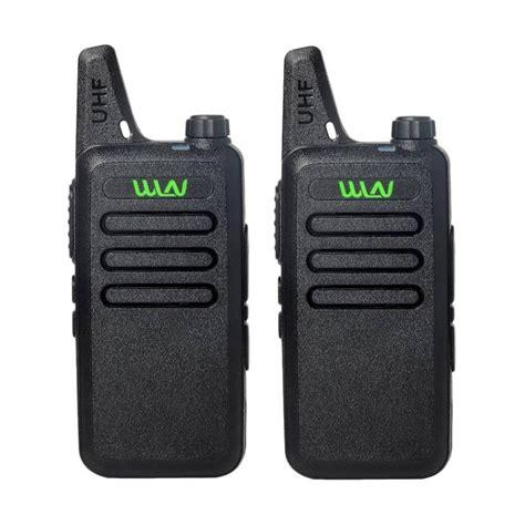 Hitam Stok 2pcs jual panzer ht walkie talkie wln two way radio hitam 2