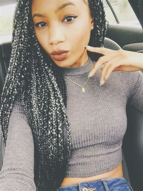 grey braids silver grey box braids lips x lime crime ig
