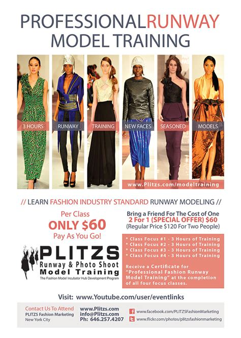fashion design certificate nyc professional model runway training plitzs new york city