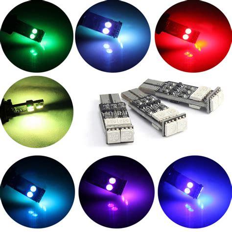 Sen Tancap Flash T10 5050 10 Blue Czr t10 w5w 194 led multimodal 7colors flash light car 5050 6smd strobe side marker light alex nld