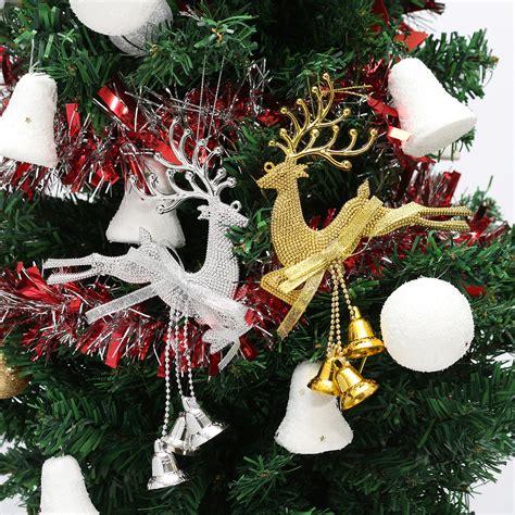 christmas tree reindeer elk deer bell ornament pendant