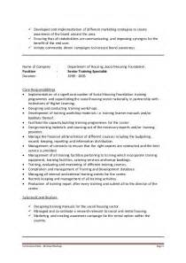 Evaluation Specialist Cover Letter Covering Letter Cv For Learning Development Specialist