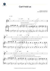 can t hold us piano sheet macklemore digital