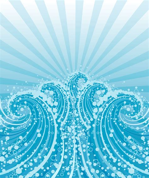 wave pattern vector ai vector sea wave pattern illustrator free vector download
