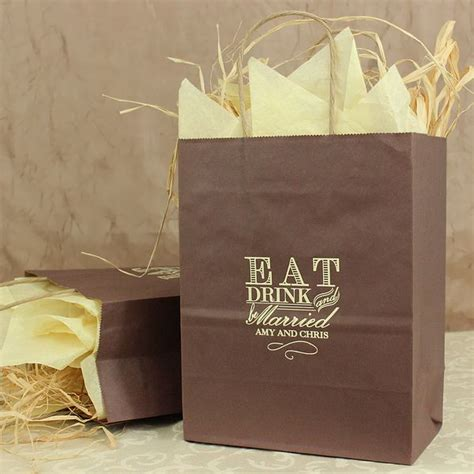 Gift Bags Wedding by 8 X 10 Eat Drink And Be Married Personalized Gift Bags