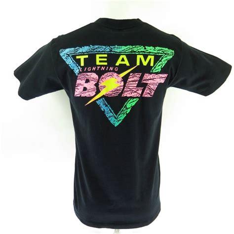 F3002 Tshirt Bolt vintage 80s team lightning bolt t shirt l deadstock retro