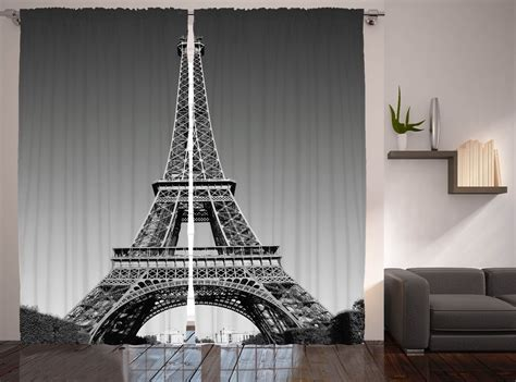eiffel tower curtains eiffel tower decor paris landmark picture cityscape design