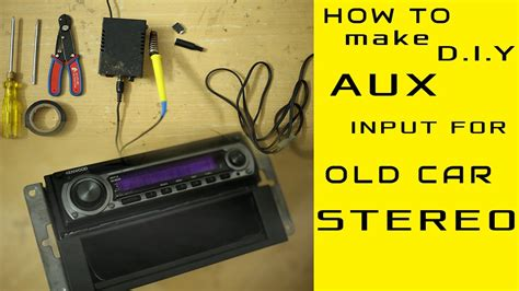 aux input installation for any model car stereo even