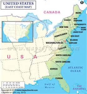 map of us east coast johnnyroadtrip east coast united states map