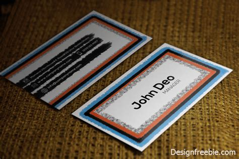 classic business card template free classic look free business card template design