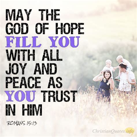 trust in the god of all comfort may he fill you with joy and peace a disciple s study