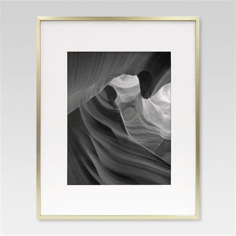 11x14 Matted Frame by Metal Frame Brass 16x20 Matted For 11x14 Photo Room