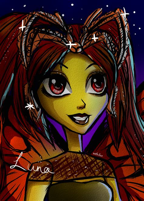 monster high luna mothews coloring pages luna mothews monster high sketch by artbykon on deviantart