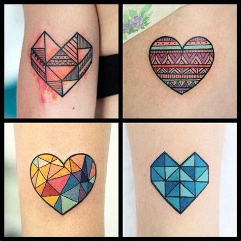 geometric heart tattoo geometric www pixshark images