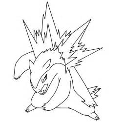 Typhlosion Colouring Pages sketch template