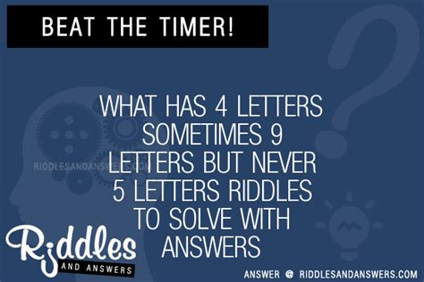 What Has 4 Letters Sometimes 9 Answer