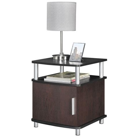 cherry end tables with storage end table with storage in cherry and black 5083196
