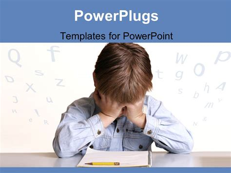 powerpoint templates for students powerpoint template frustrated child sitting at table