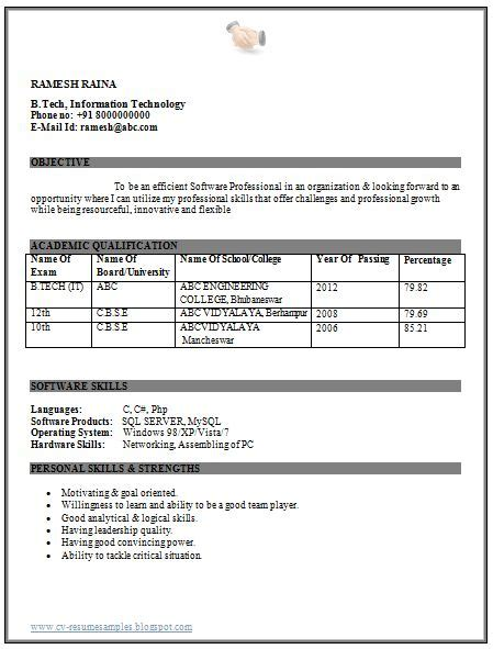 resume format for engineering freshers doc professional curriculum vitae resume template for all seekers beautiful resume sle of