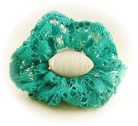 8 Crochet Detail Accessories by Crochet Weave Lacy Scrunchie Ponytail Holder 8 Color