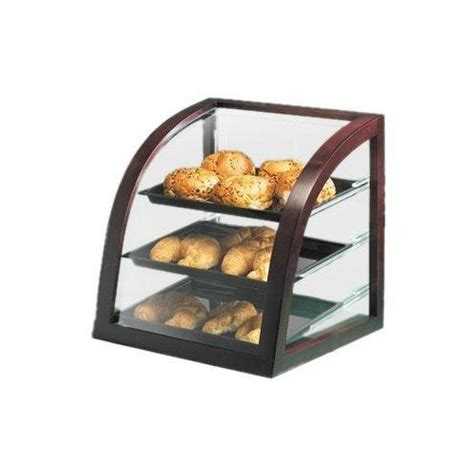 Countertop Bakery by Cal Mil Display Curved Front Bakery 3 Shelf Countertop Wood Frame P255 52