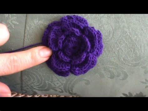 como tejer flores de 5 petalos a crochet muy facil how flor de petalos en crochet youtube