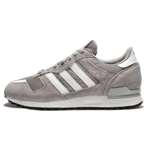 adidas original running shoes adidas originals zx 700 grey white suede mens running