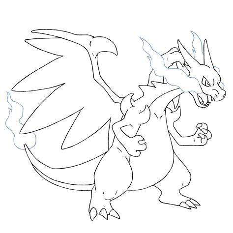 pokemon coloring pages mega charizard coloring home