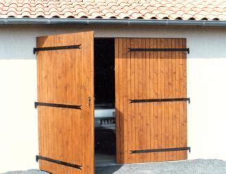 portes de garage bois pvc ou alu 2 vantaux de sothoferm