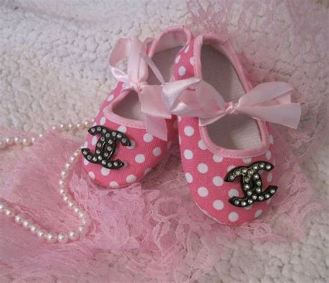 chanel baby shoes baby crib shoes chanel inspired pink polka by