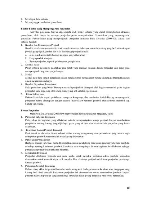 Manajemen Penjualanbasu Suasta analisis audit manajemen terhadap efektifitas penjualan dan penerimaa