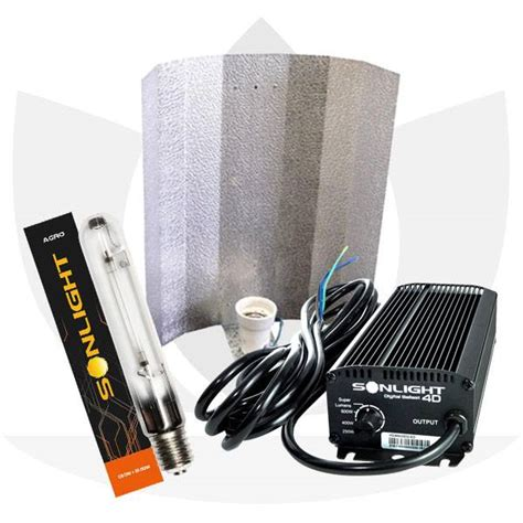 illuminazione indoor kit luce indoor elettronico lada agro 400w sonlight