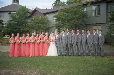 southern elegant coral  pink wedding   detail