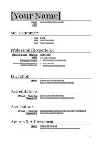 How To Format A Resume In Word by Resume Format Word Learnhowtoloseweight Net