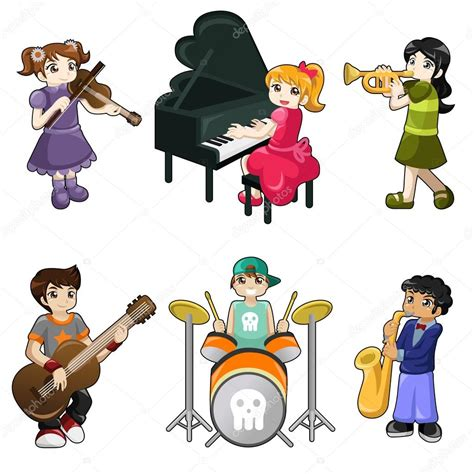 imagenes niños tocando instrumentos musicales diferentes ni 241 os tocando instrumentos musicales archivo