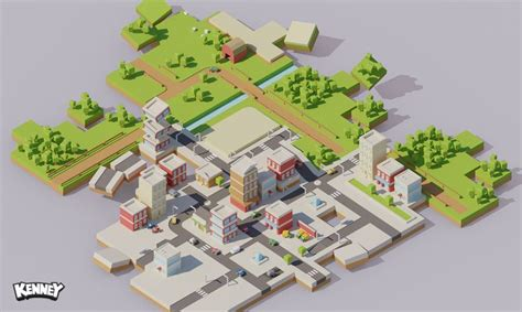simple voxel floating island blender 3d youtube isometric city construction http www kenney nl assets