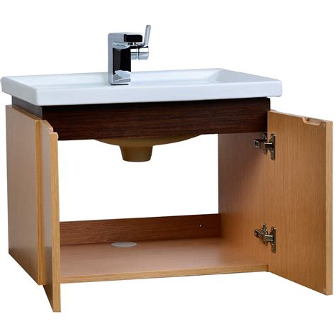23 5 quot wall mount bathroom vanity set oak
