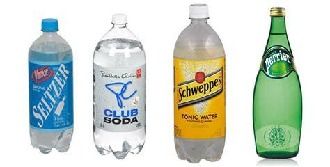 club soda vs seltzer vs sparkling mineral vs tonic water differences similarities