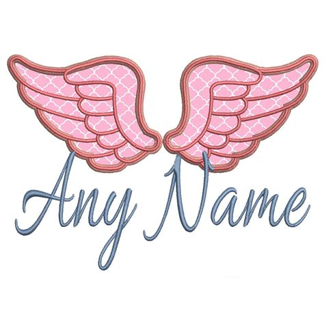 embroidery design angel custom machine embroidery design pretty angel wing by