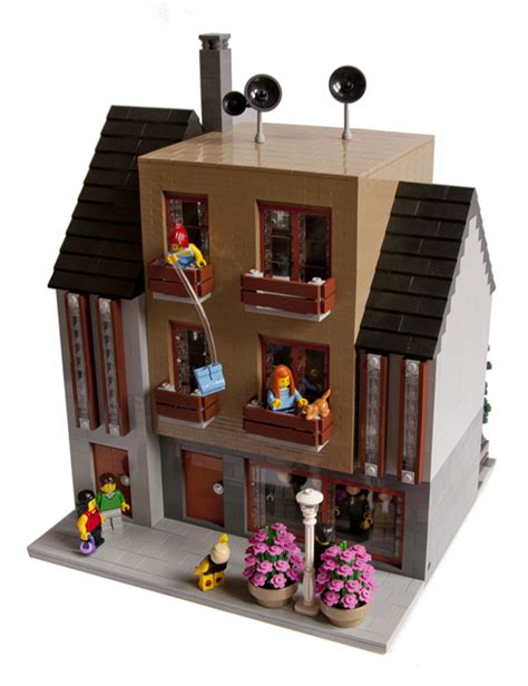building houses it s kind of like lego but more anoying moc modern house lego town eurobricks forums
