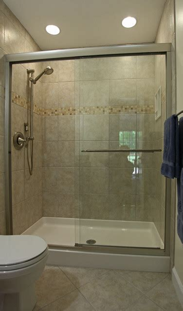 Tub Shower Ideas For Small Bathrooms Small Bathroom Ideas Traditional Bathroom Dc Metro By Bathroom Tile Shower Shelves