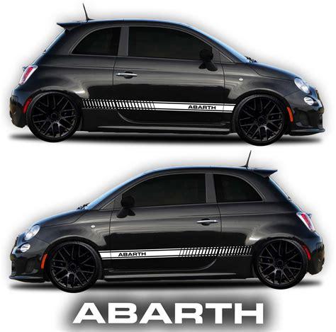 fiat abarth rocker panel graphic kit shine graffix
