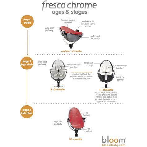 bloom fresco newborn bloom fresco chrome contemporary baby chair frame only